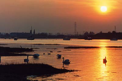 Preview of Sunset over River Stour. The Walls, Manningtree